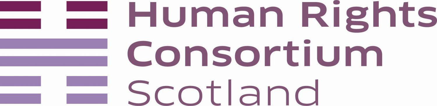 Image shows Human Rights Consortium Scotland logo